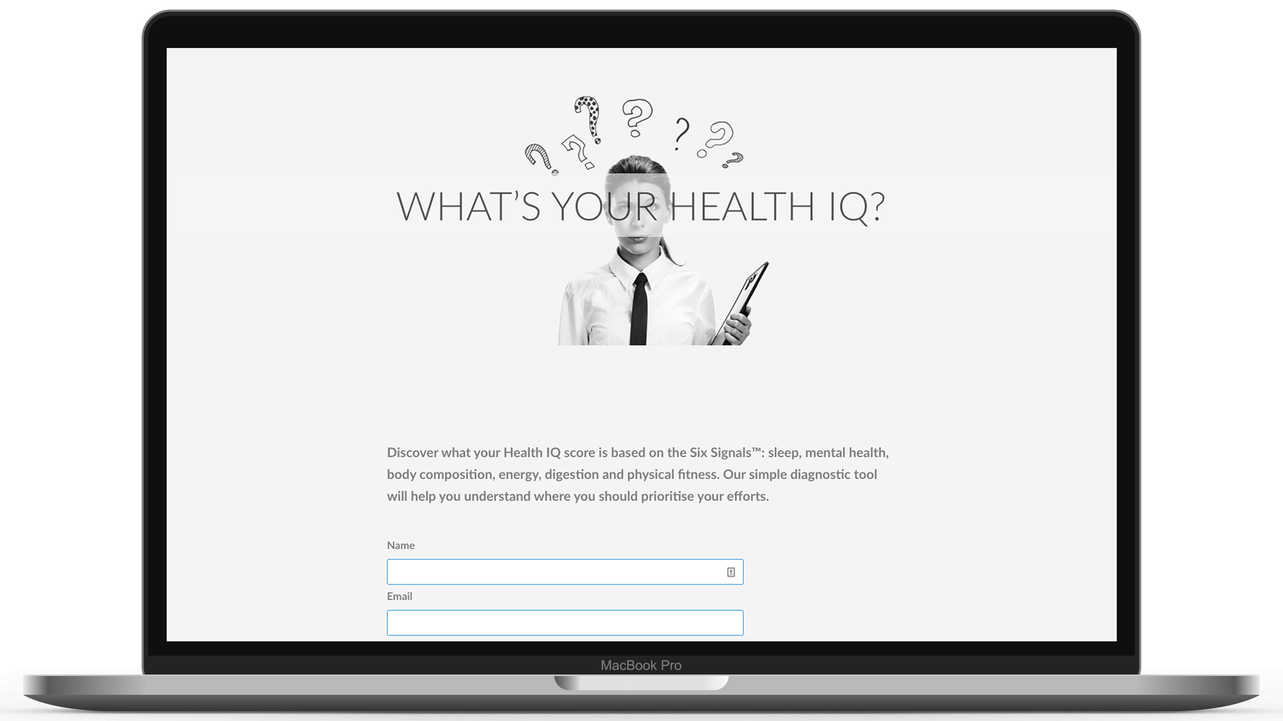 Mockup Macbook Health IQ
