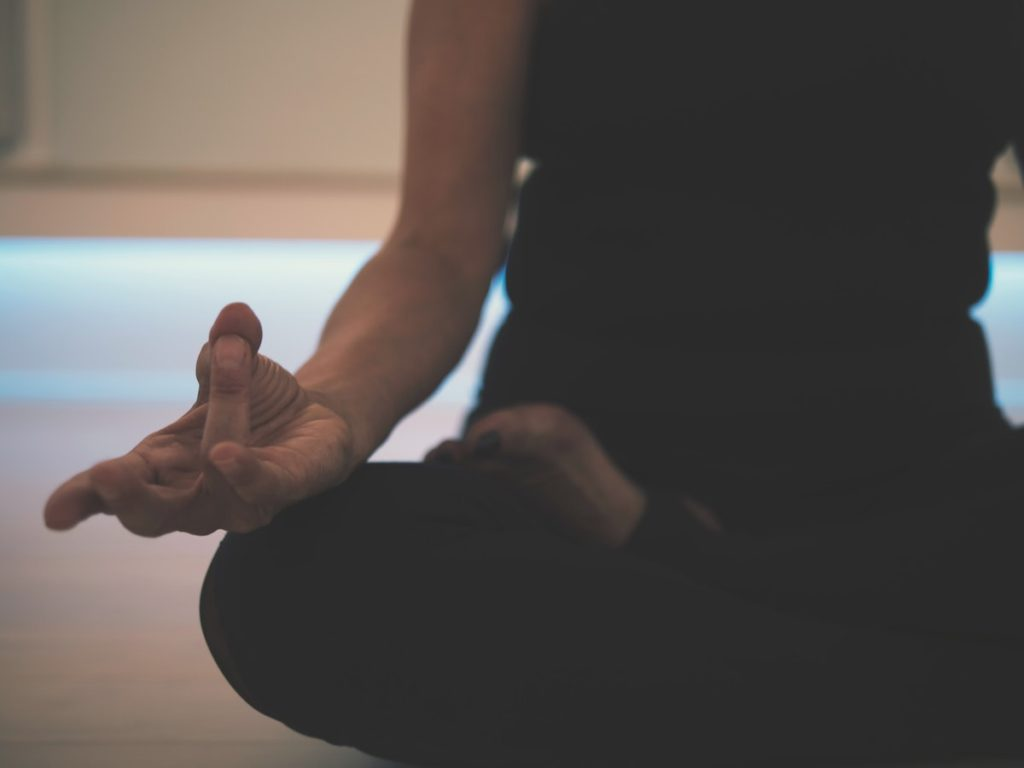 meditation - person sat cross legged