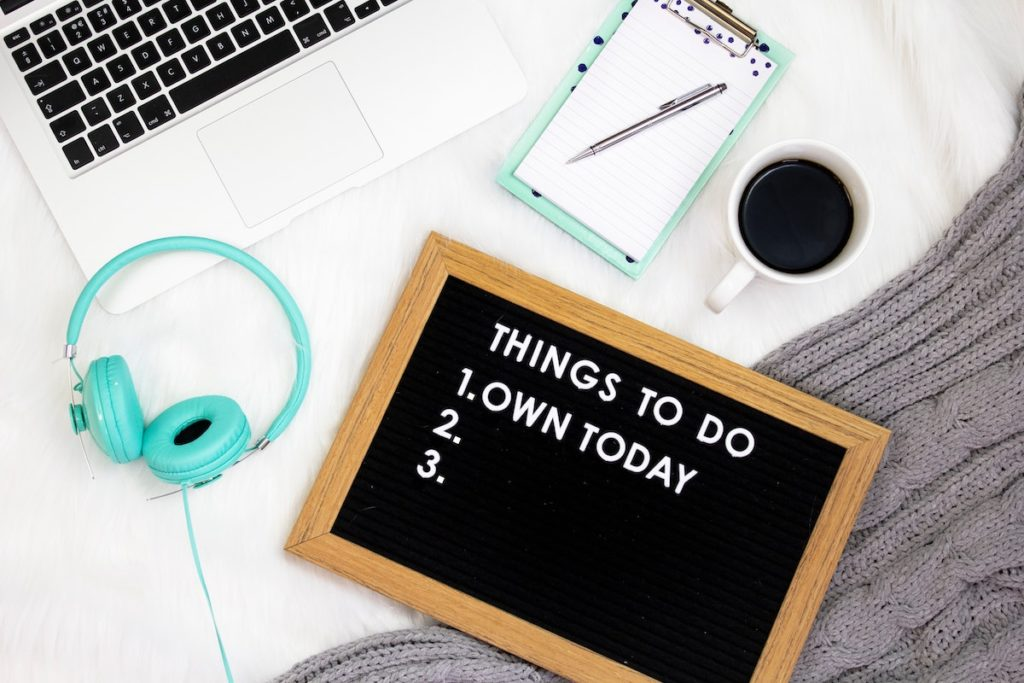 Changing what you can control to do list with own the day written