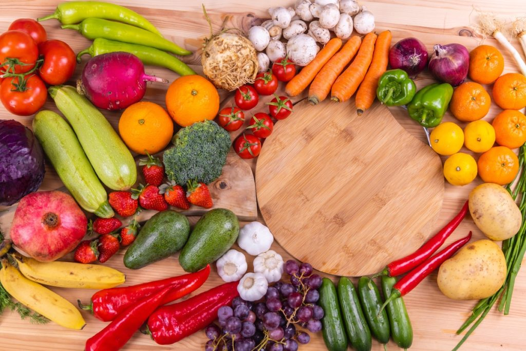 Blood sugar balance selection of fruits and vegetables