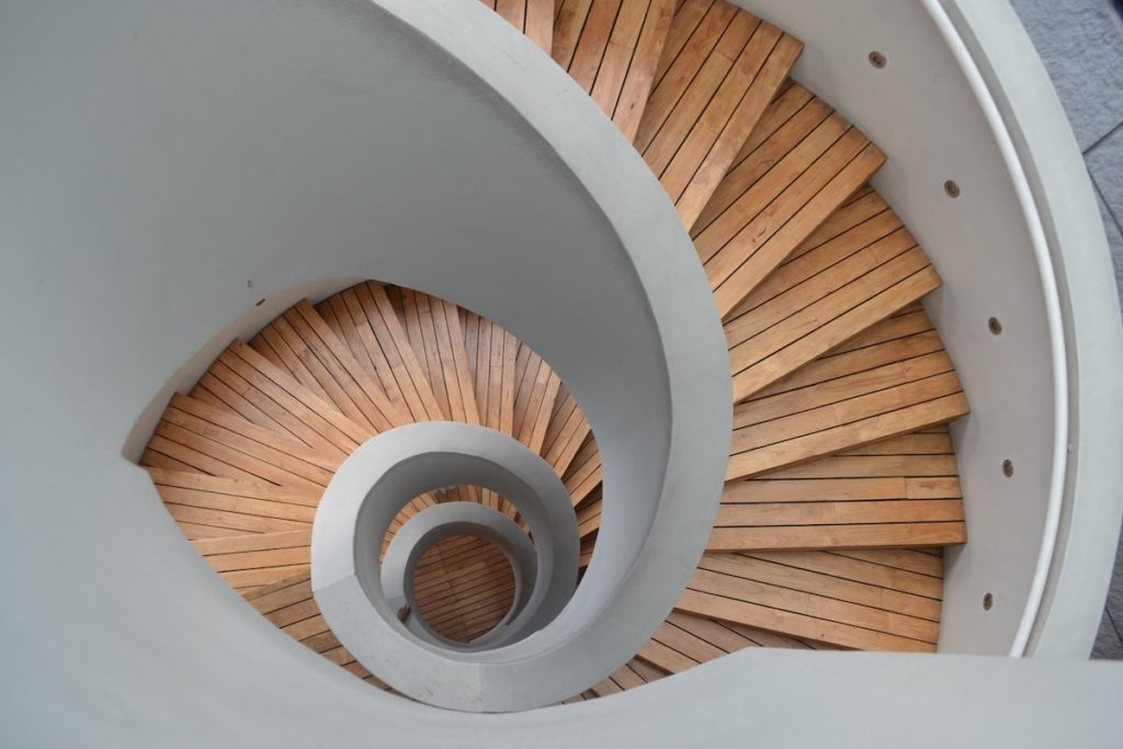 sleep staircase image of spiral staircase