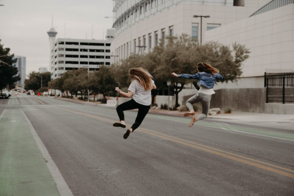 How to energise yourself women jumping with joy