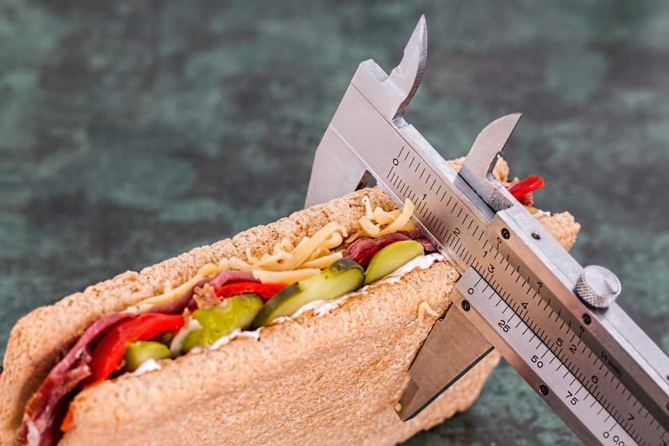 Measuring the size of a sandwich